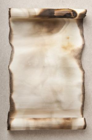 papier brul�: vieux rouleau Banque d'images