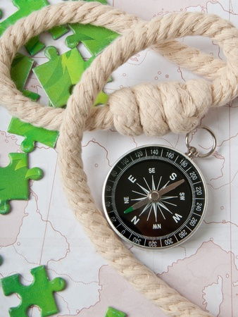 compass and rope photo