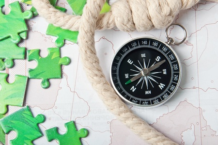 compass and rope Stock Photo - 15982747