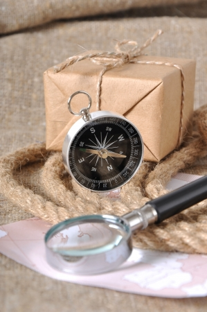compass and mail box photo