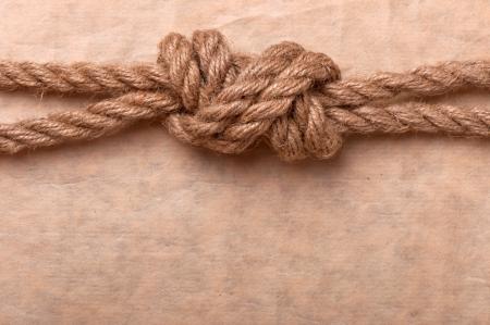 noeud marin sur le fond de vieux papier Banque d'images