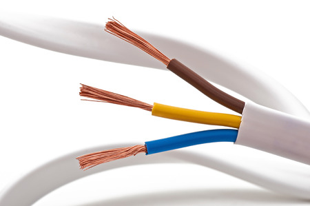 electric cable on a white background Фото со стока - 28101732