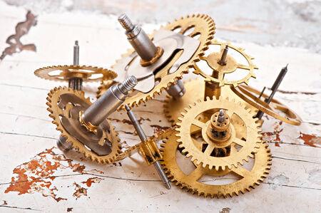 mechanical clock gears photo