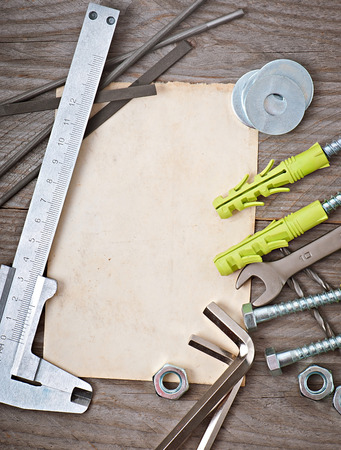 paper and metalwork tools photo
