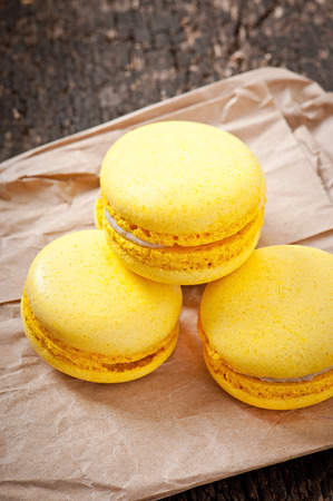 beautiful traditional french macarons photo