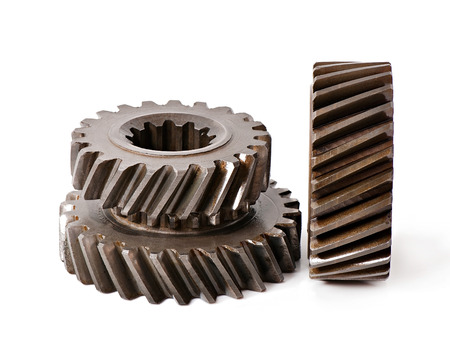 old metal: old metal parts gear Stock Photo