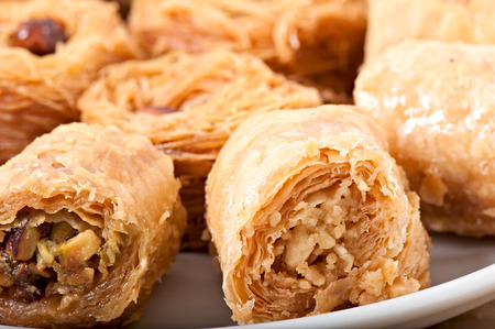 baklawa: Eastern dessert baklawa Stock Photo