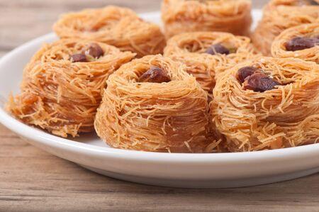 baklawa: dessert baklawa with pistachio nuts