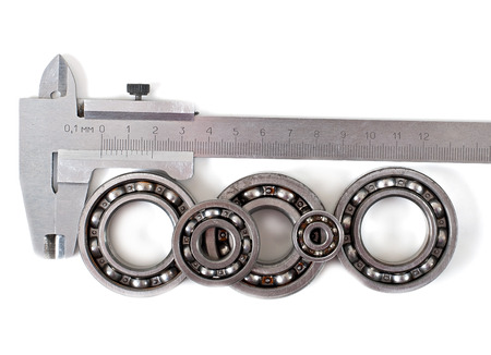 friction: Bearings on a white background