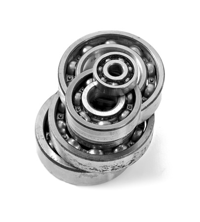 bearings: Bearings on a white background