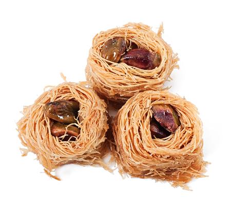 baklawa: Eastern dessert baklawa with pistachio nuts Stock Photo