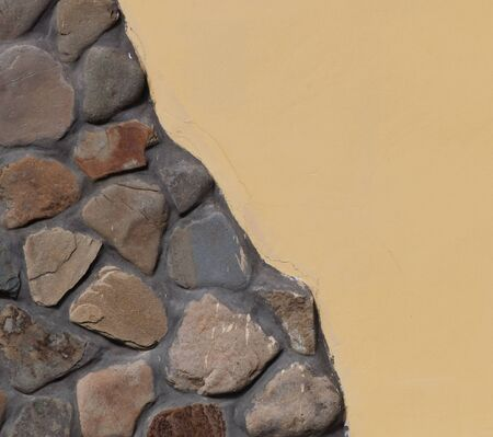 old brick wall: Part of the stone wall, stone wall background texture. Stock Photo