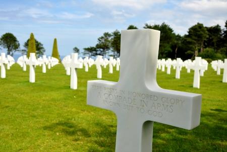 American War Cemetery at Omaha Beach