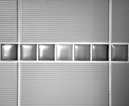 grooves: detail of bathroom tiles with texture Stock Photo