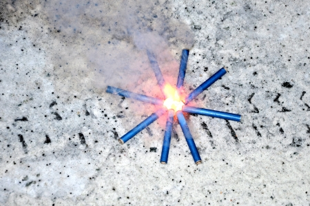 small firework in christmas time Stock Photo - 24620616