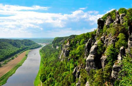view from Tiske rocks, Czech Republic