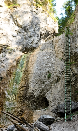 Rock walk in Slovakia Paradise, ladder