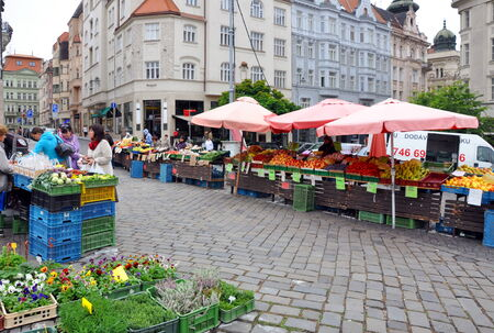 Vegetable market, Brno, Czech Republic