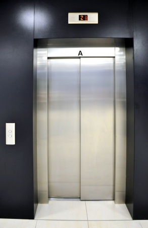 elevator in shopping centre, Brno Stock Photo