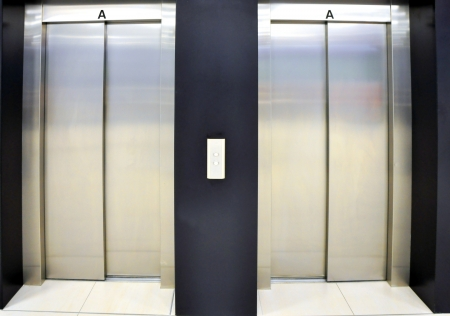 elevators in shopping centre, Brno