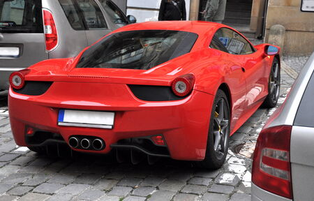 luxury Ferrari 458 in Prague Editorial