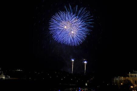 Great New Year Firework in Prag 2014 Stock Photo - 24824648
