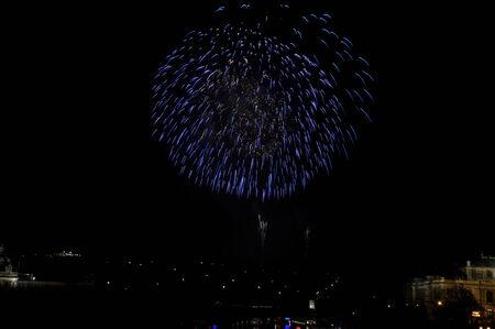 Great New Year Firework in Prag 2014 Stock Photo - 24824652