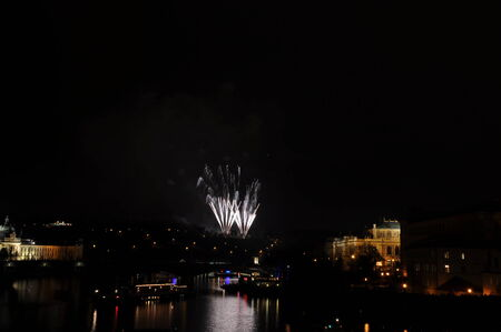 Great New Year Firework in Prag 2014 Stock Photo - 24824606