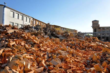 Demolition of industrial old building,