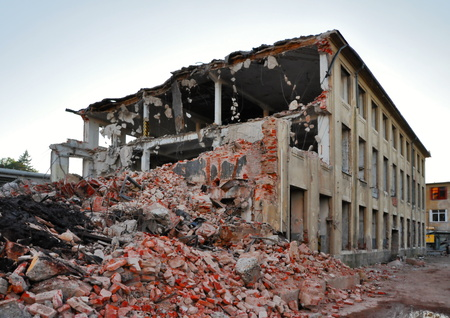 Demolition of industrial building in the Czech Republic