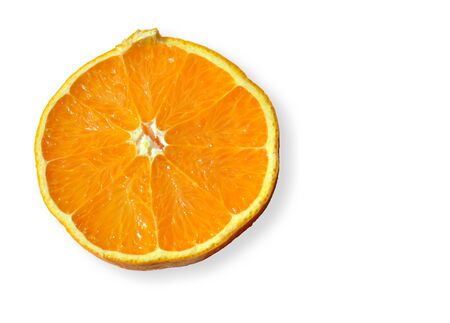 close up of isolated fresh tasty orange Stock Photo