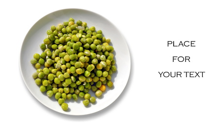 close up of plate of peas on a plate