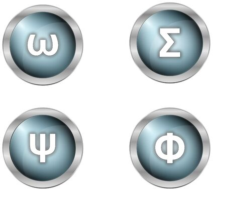 luxury symbols as buttons in mettalic design