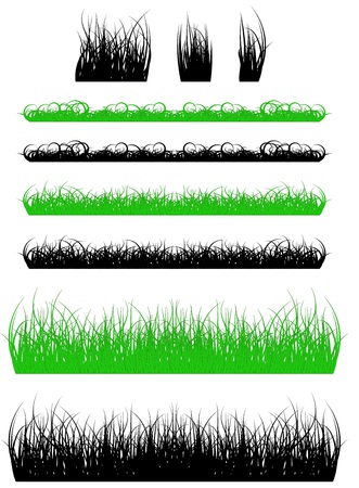 silhouette of a grass, black and green