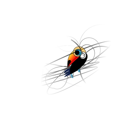 beautiful art of toucan from lines Vector