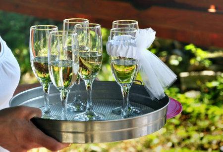 wedding toast, glasses of wine