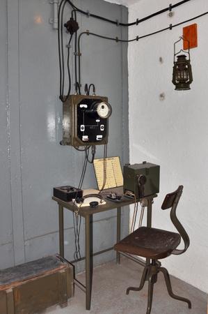 telegrama: sala de morse en bunker