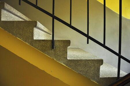 concrete stairs in architecture design Stock Photo