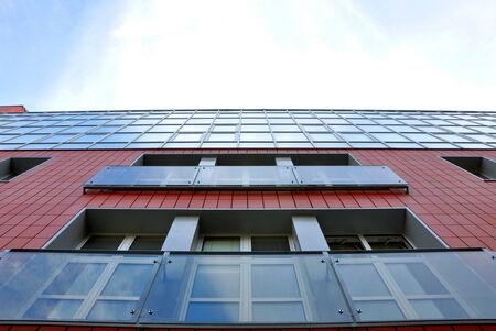 geometric style: nice modern architecture in geometric style Stock Photo
