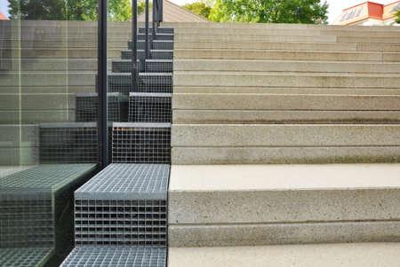 architecture design: concrete stairs in architecture design Stock Photo