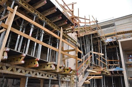 Fermer des processus construire un bâtiment Banque d'images - 33970272