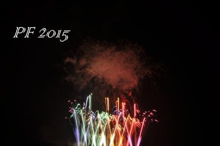 pf: PF 2015 firework celebration christmas Stock Photo