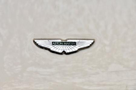DRESDEN, GERMANY, DECEMBER 12, 2014: Logo of car Aston Martin