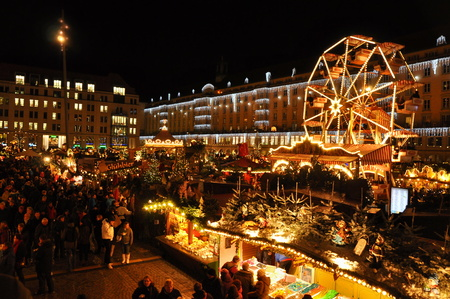 DRESDEN, GERMANY, DECEMBER 12, 2014: Christmas markets in Dresden
