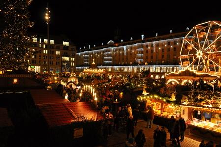 market hall: DRESDEN, GERMANY, DECEMBER 12, 2014: Christmas markets in Dresden