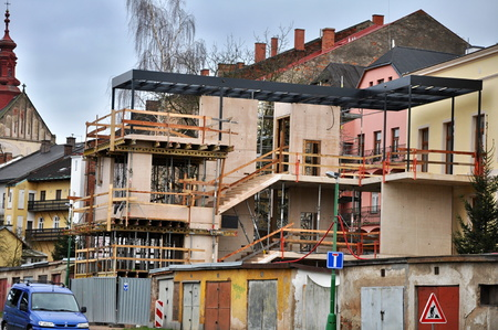 rep: JAROMER, CZECH REP., DECEMBER 28, 2014: construct a building Editorial
