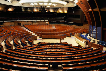 STARBOURG, FRANCE, DECEMBER 7, 2007: european parliament in Strasbourg