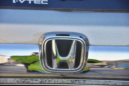 accord: PRAGUE, CZECH REP., JANUARY 13 2015: logo of honda Editorial