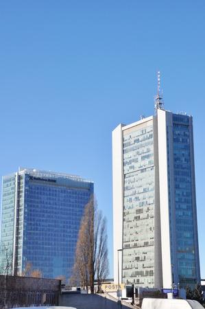 rep: PRAGUE, CZECH REP., JANUARY 13 2015: skyscraper