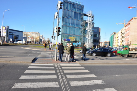 PRAGUE, CZECH REP., JANUARY 13 2015: intersection in city